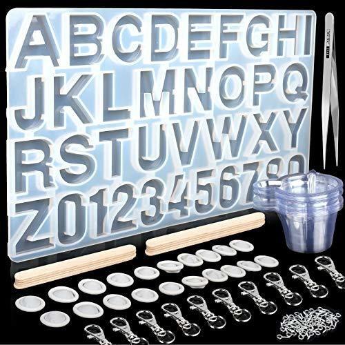 Kit Molde De Silicona Para Resina Con Número De Alfabeto