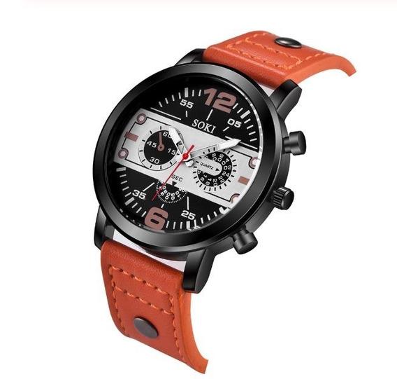 Relógio Masculino De Pulso Social Quartz Masc Frete Grátis