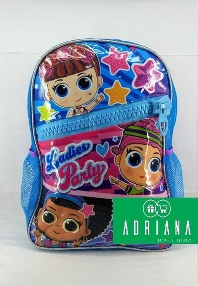 Mochila Escolar Infantil Lol Ladies Party Clio Lp2138j Azul