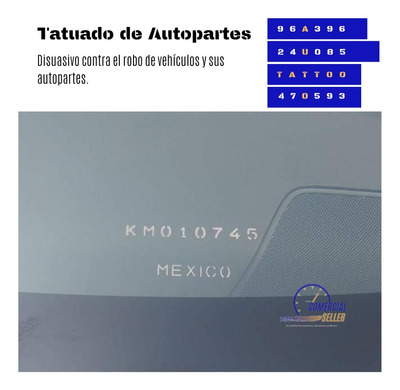 Tattoo Auto Tatuado De Autopartes Disuasivo De Robo