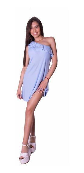 Vestidos Cortos Lycra Modal Colores Hombro Octanos - Redih