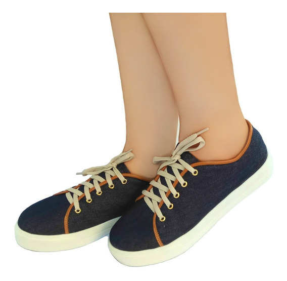 Tênis Casual Jeans Azul Bellatotti Tamanho 33 E 34