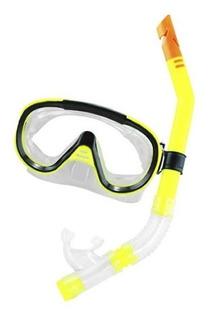Mascara Mergulho Kit Oculos E Snorkel Com Valvula Top Alabtr