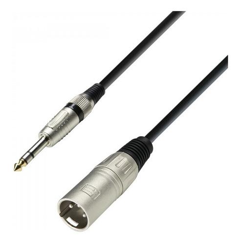 Imagen 1 de 3 de  Adam Hall K3bmv0600 Cable Xlr Macho A Jack 6,3 Plug St 6met