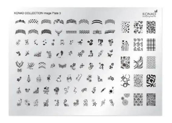 Placa De Imagem Konad Stamping Nail Art - Collection 3