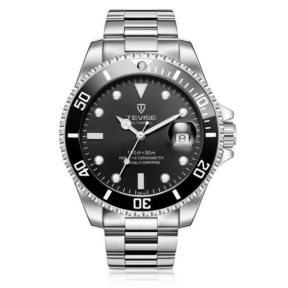 Reloj D/pulsera Tevise T801a Mecánico Acero Inoxid. P/hombre