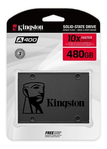 Imagen 1 de 5 de Disco Solido 480gb Kingston A400 Ssd 3 Notebook Pc