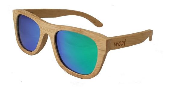 Gafas Anteojos Sol 100% Madera Woot8 - Natural Bamboo