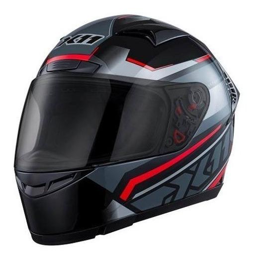 Capacete Esportivo Moto X11 Volt Dash Fechado Preto Vermelho