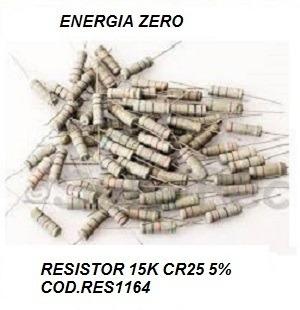 Resistor 15k Cr25 5% Pac 10 Unid. Cod.res1164 Frete Cr