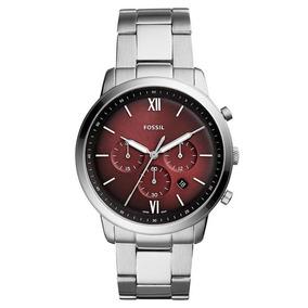 Relógio Fossil Masculino Ref: Fs5491/1kn Cronógrafo Prateado