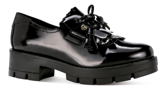 Gosh Zapatos Tacon Plataforma Detalle Moño Cerrado 0379081