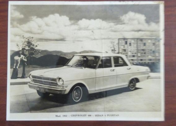 Fotografía Original- Chevrolet 400 Sedan. 1962