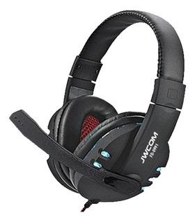 Fone de ouvido gamer JWCOM FO-0991 preto e led