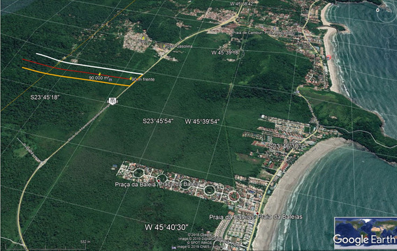 Terreno No Litoral Norte De Sp De 90.000 M² Entre As Prais