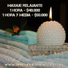 Masaje Relajante $39000