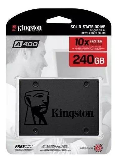 Hd Ssd 240gb Sata 3 Kingston A400 2,5 Para Pc Gamer