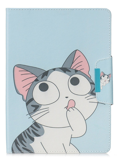 Capa De Tablet Couro Pu Cat iPad 5/6/7/8