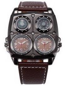 Reloj Oulm Quad Dial Nuevo Cerrado