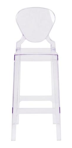 Banqueta Alta Acrílica Transparente Ghost Elizabeth 76 Cm   Mercado Livre