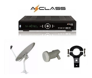 Kit Tv Fta Azclass S1000 Hd + Antena + Lnb Ku Hd Iks Privado