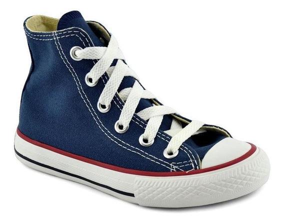 Zapatilla Converse Niño Chuck Taylor All Star Hi Azul/blanco