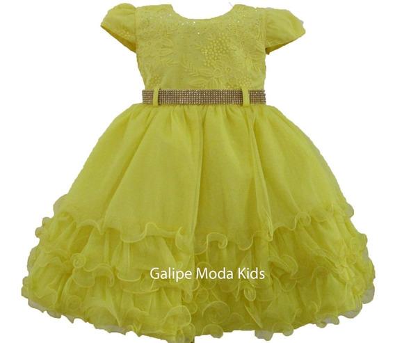 Vestido Bela Fera Infantil Tamanhos 1 Ao 3