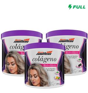 3x Colageno Hidrolisado - 750g - New Millen + Brinde