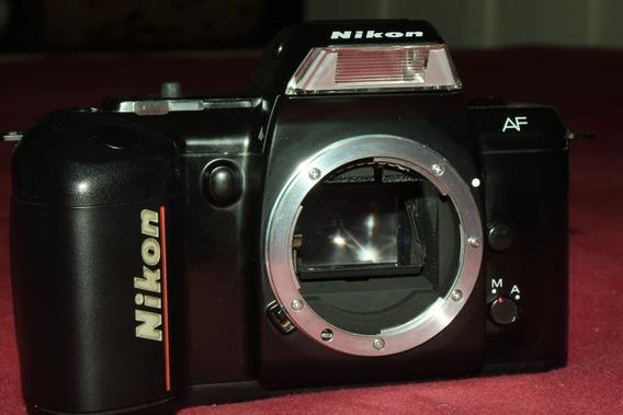 Câmera Slr Nikon F 401 Qd Analógica Funcionando Excelente