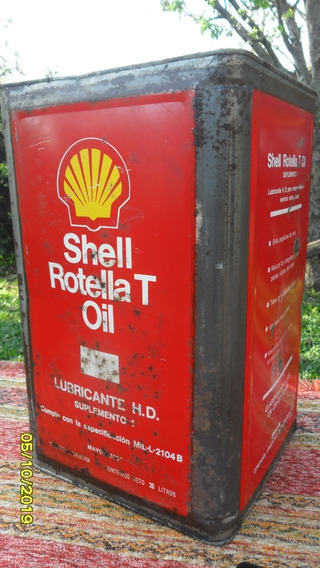 Linda Antigua Lata Aceite Shell Rotela T Oil 20 Litros