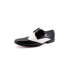 bf2dbd8067 Sapato Social Masculino La Faire 2030 Preto E Branco