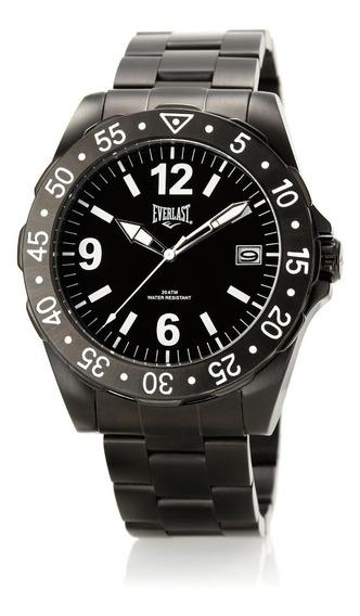 Relógio Pulso Everlast Masculino Aço Calendário E268