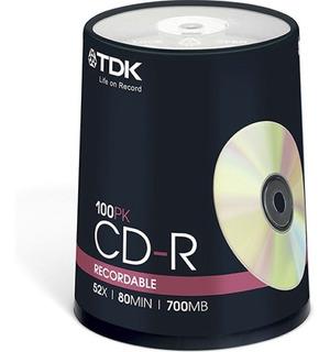 Cd-r Tdk Estampado 700mb 80m 52x Bulk Cerrado 100 Unidades- Importadora Fotografica - Distribuidor Mayorista Tdk