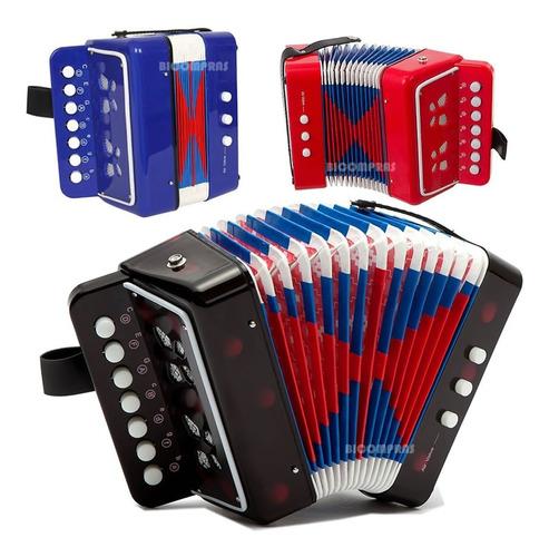 Mini Acordeon Sanfona Musical Infantil Aprendizado Crianças