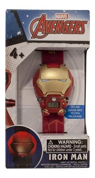 Reloj Pulsera Digital Bulb Botz Marvel Avengers Iron Man