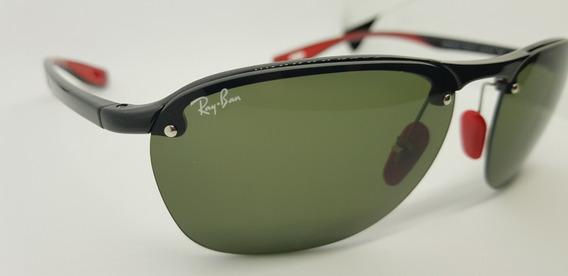 Óculos De Sol Scuderia Ferrari Rb4302 Verde Clássico G15.