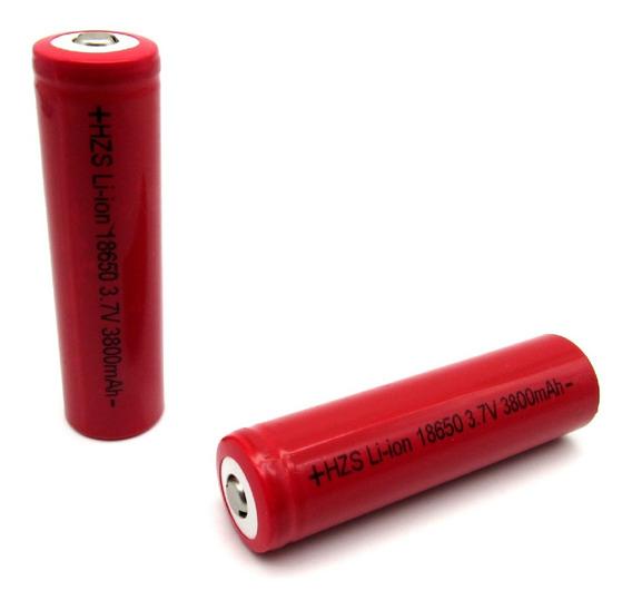 Bateria Cr 18650 3800mah Li-ion 3.7v Recarregável Vermelha