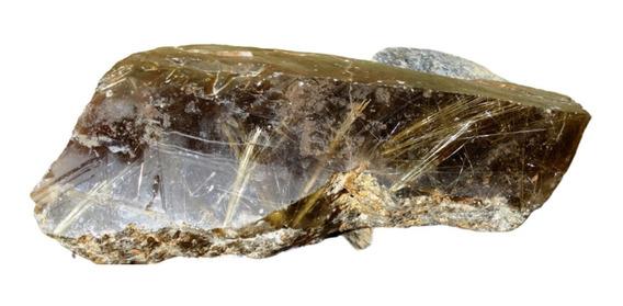 Raro Quartzo Rutilado Natural Bruto Coleção - 1,100 Kg