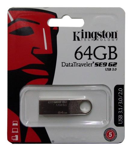 Pendrive Kingston 64gb 64 Gb Datatraveler Dtse9g2 3.0 Origin