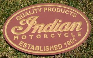 Placa Indian Motorcycles