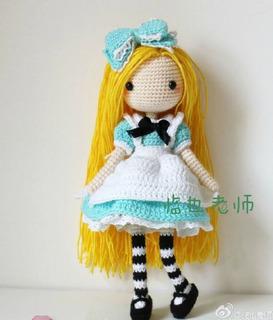 Patrón Crochet Amigurumis Alicia + Regalo Gato Conejo