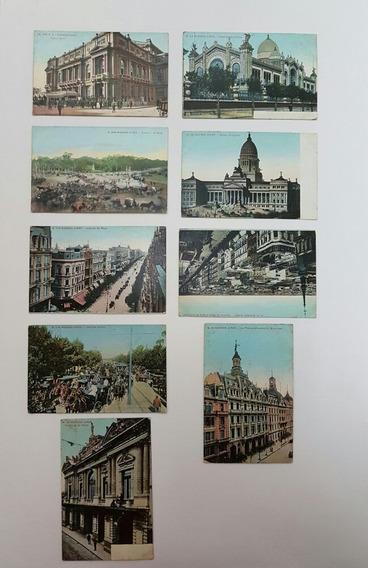 Coleção Cartões Postais Raros Antigos Da Argentina Lote 2