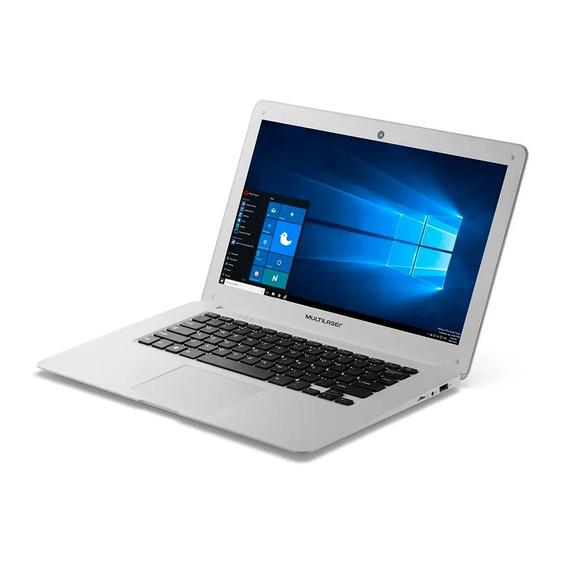 Notebook Multilaser Quad Core 14 Windows 10 Branco Pc 102