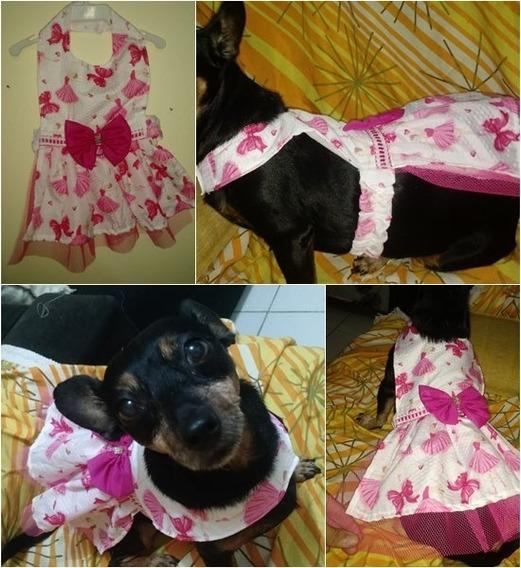 Kit Atacado Com 4 Vestidos Pra Cachorro Petshop Pp Ao G Pet