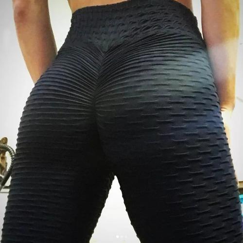 Calza Leggins Sexy Yoga Mujer Pantalón Push Up Texturizada