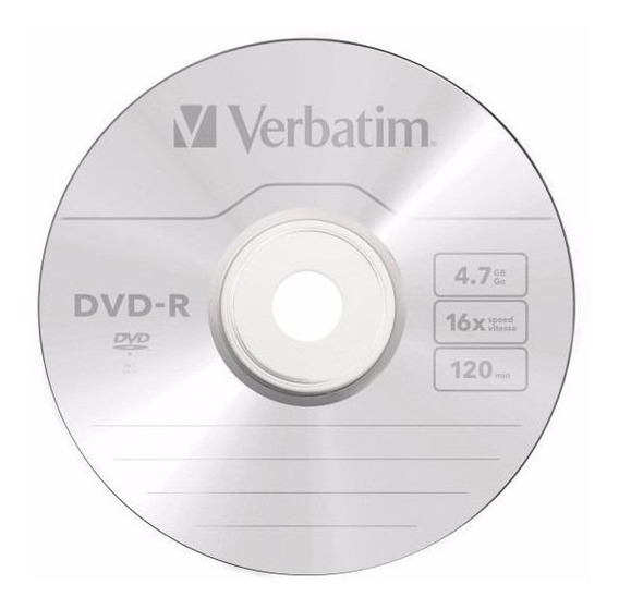 Dvd Virgen Verbatim Dvd-r Por 3 Unidades 4.7gb