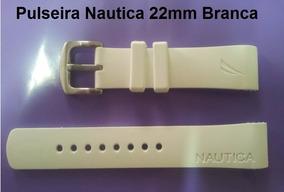 Pulseiras Relogio Nautica Original 22mm Na Cor Branca Nova