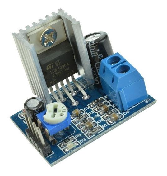 Modulo Amplificador De Audio Mono 18w Clase Ab 6 A 12v Con Tda2030