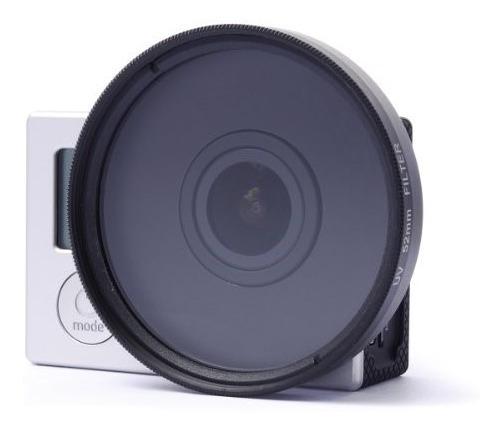 Adaptador 52mm Gopro 4 3+ E 3 + Filtro Uv (direto Na Câmera)
