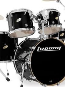 Bateria Ludwig Accent Custom Lc 325e Black Com Ferragens